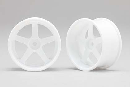 Drift Wheels white 5 Spoke +6mm Offset 2pcs.