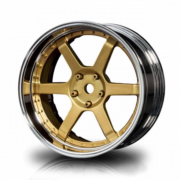 MST Drift Wheels 106 Silver-Gold Offset changeable (4pcs)