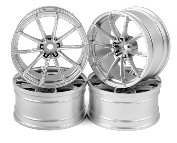 Flat Silver GTR Wheels 5Offset 4pcs.
