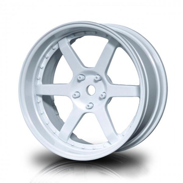 Drift Wheels 106 White - White Offset changeable (4pcs)