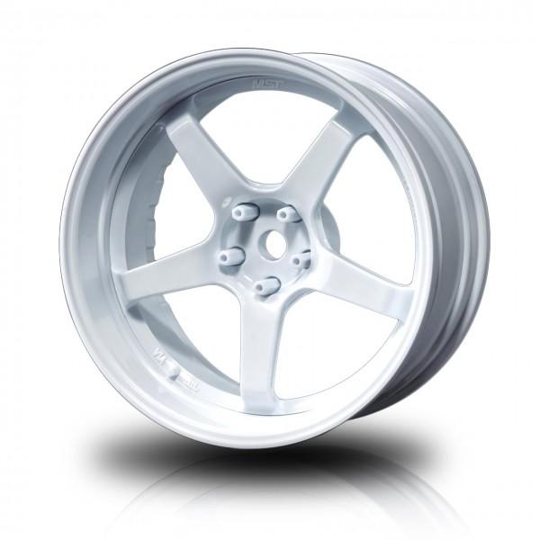 Drift Wheels GT White - White Offset changeable (4pcs)
