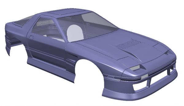 RC Arlos Mazda RX7 FC Karosserie unlackiert