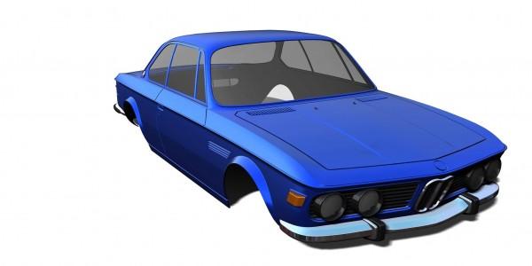 RC Arlos BMW E9 C3.0 Karosserie unlackiert