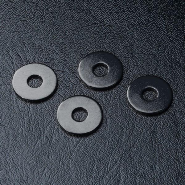 Wheel shims +offset black 4pcs. +1mm