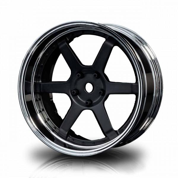 Drift Wheels 106 Silver-matt black Offset changeable (4pcs)