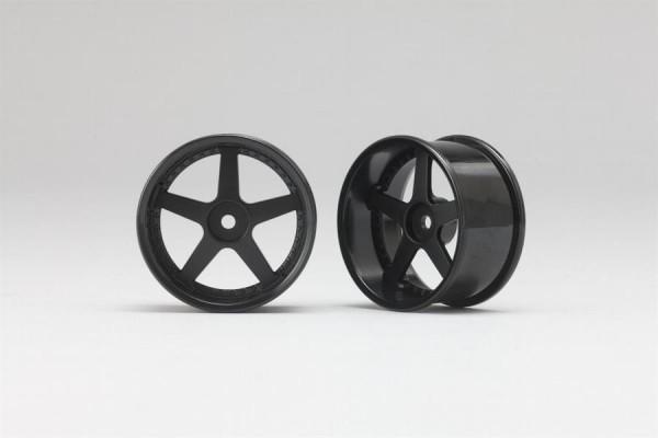 Drift Wheels black 5 Spoke +6mm Offset 2pcs.