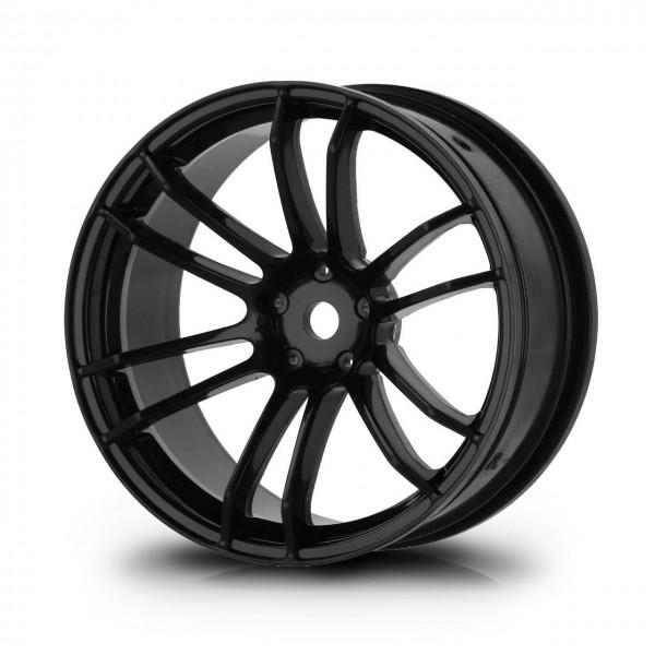 Drift Wheels TSP Black (+5mm Offset) (4 pcs)