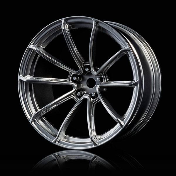 Flat Silver GTR Wheels 9Offset 2pcs.